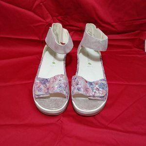 Waldlaufer Marigold Adjustable Floral Sandals NWT…